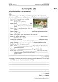 Englisch, Kompetenzen, Themen, Kommunikative Fertigkeiten, Gesellschaft, Schreiben / writing, Sitten und Traditionen, future tenses, summer, party, Grammatik