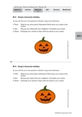 Englisch, Themen, Alltag, Freizeit, Schule, Holiday, diary of a wimpy kid, jeff kinney, Halloween
