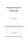 Mathematik, Daten, Zufall & Wahrscheinlichkeit, Raum & Form, Stochastik, analytische Geometrie, Abituraufgaben, Analysis