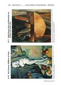 Kunst, künstlerische Strategien, Bildhaft gestalten und ausdrücken, komponieren, paul cézanne, stillleben, strukturskizze, farbliches gestalten