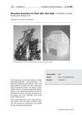 Kunst, künstlerische Strategien, Verfahren und Techniken, Material, Formen, bauen und konstruieren, Papiere und Pappen, Pflanzliches und Tierisches, textile materialien