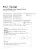 Chemie, Analytische Chemie, metallionennachweis