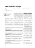 Chemie, Analytische Chemie, bodenanalye