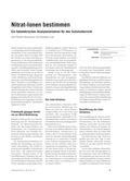 Chemie, Analytische Chemie, nitrationenbestimmung