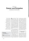Latein, Das öffentliche Leben, Welterfahrung in poetischer Gestaltung, Geschichte Roms, Caesar, Krise, das öffentliche leben, Politik