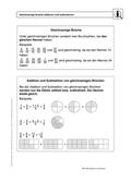 Mathematik, Zahlen & Operationen, Grundrechenarten, Bruchrechnung, selbstgesteuertes lernen