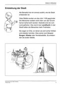 Geschichte, Dimensionen historischer Erfahrung, Epochen, Leitprobleme, Sozialgeschichte, Mittelalter, Lebenswelten, Mittelalterliche Stadt, Epochen