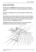 Geschichte, Dimensionen historischer Erfahrung, Epochen, Leitprobleme, Kulturgeschichte, Sozialgeschichte, Mittelalter, Lebenswelten, Nahrung im Mittelalter, mittelalterliches bauernleben