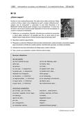 Spanisch, Interkulturelle fremdsprachige Handlungsfähigkeit, Sprachkompetenz, Leseverstehen, Sprechen, Stichwortzettel entwickeln, Rollenspiel