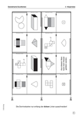 Mathematik, Geometrie, Raum & Form, Körperberechnung, Netzbild, körper, domino