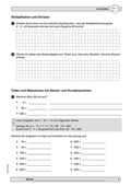 Mathematik, Zahlen & Operationen, Grundrechenarten, Kopfrechnen, Multiplikation, Division