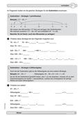 Mathematik, Zahlen & Operationen, Grundrechenarten, Kopfrechnen, Subtraktion