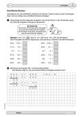 Mathematik, Zahlen & Operationen, Größen & Messen, schriftliches Rechnen, halbschriftliches rechnen, überschlagen, schriftliches dividieren