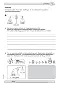 Mathematik, Größen & Messen, Messen, Gewichte, größen, wiegen