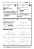 Mathematik, Zahlen & Operationen, Zahlenmauer, messen, größen, partnerarbeit