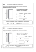 Mathematik, Geometrie, Raum & Form, Körperberechnung, Zylinder, volumenberechnung