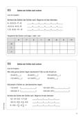Mathematik, Zahlen & Operationen, rationale Zahlen, vorzeichen, ordnen