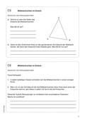 Mathematik, Geometrie, Mittelsenkrechte, Eigenschaften