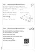 Mathematik, Geometrie, Raum & Form, Körperberechnung, Kegel, Pyramide, volumenberechnung