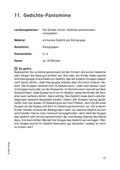 Deutsch_neu, Primarstufe, Sekundarstufe I, Sekundarstufe II, Literatur, Literarische Gattungen, Lyrik, Grundlagen zur  Analyse und Interpretation von Lyrik
