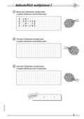 Mathematik, Grundrechenarten, Multiplikation, halbschriftliche multiplikation