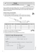 Physik_neu, Sekundarstufe II, Mechanik, Grundlagen der Dynamik, Energie und Energieformen, Kinetische Energie