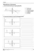Physik_neu, Sekundarstufe I, Optik, Geradlinige Strahlenausbreitung, Abbildung, Abbildung durch Sammellinsen