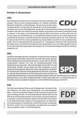 Politik, Partizipation in der Verfassungswirklichkeit, Bundesrepublik Deutschland heute, Demokratie gestern, heute, morgen in Theorie und Praxis, Parteien, parteiendemokratie