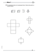 Mathematik_neu, Primarstufe, Raum und Form, Körper, Modelle, Flächenmodell, Körpernetze