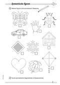 Mathematik, Raum & Form, funktionaler Zusammenhang, Raum und Form, Analysis, Symmetrie, Symmetrieachse, symmetrische Figuren