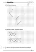 Mathematik, Raum & Form, funktionaler Zusammenhang, Geometrie, Raum und Form, Analysis, Symmetrie, Spiegelachse, symmetrische Figuren