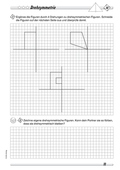 Mathematik, Raum & Form, funktionaler Zusammenhang, Raum und Form, Achsensymmetrie, Analysis, Symmetrie, symmetrische Figuren, drehung