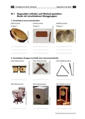 Musik, Bausteine, Elemente, Material, Klangmaterial, Klangerzeuger, Klang, Instrumente, Selbstbau von Instrumenten, hören, spielen