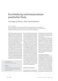 Latein_neu, Sekundarstufe I, Textarbeit, Grundlagen der Textarbeit, Techniken der inhaltlichen Erschließung von Texten