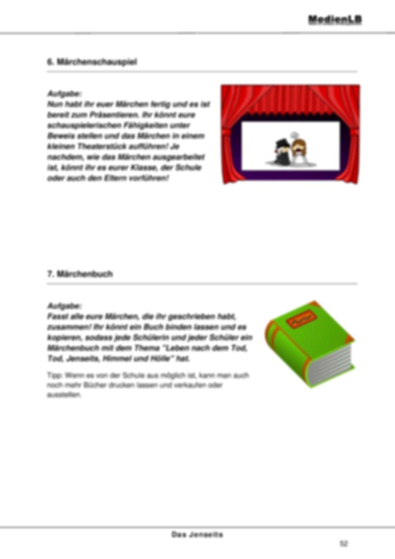 Jenseits - Projektarbeit zum Schreiben von Märchen Preview 4