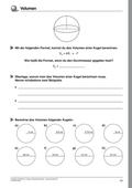 Mathematik_neu, Sekundarstufe I, Größen und Messen, Rauminhalt, Rauminhaltsberechnungen, Kugel
