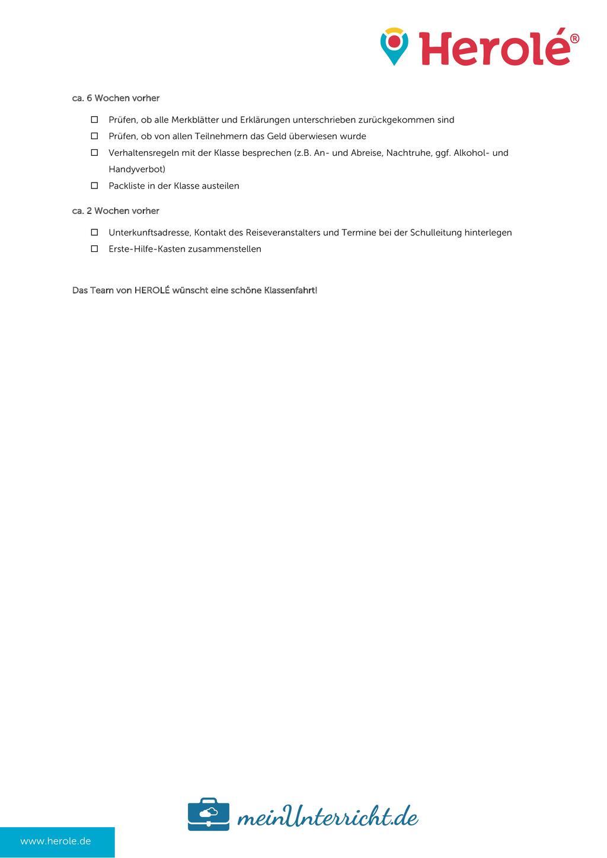 Klassenfahrt planen: Checkliste für Lehrer Preview 2
