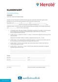 Klassenfahrt planen: Vorlage Einverständniserklärung