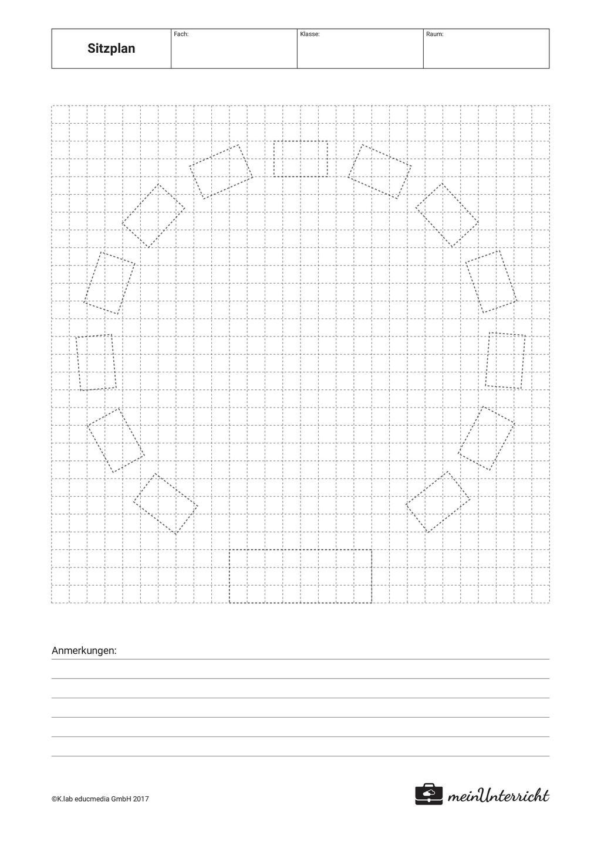 Sitzordnung: Sitzkreis Preview 1