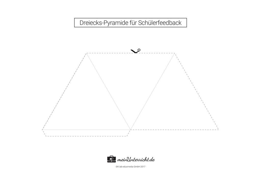 Dreiecks-Pyramide für Schülerfeedback Preview 1