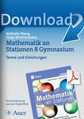 Mathematik_neu, Sekundarstufe I, Zahl, Terme und Gleichungen, Quadratische Gleichungen und Binome, Lösen von Gleichungen, Rechnen mit Klammern, Variablen, Überprüfung vorgegebener Gleichungen, Matherätsel, Terme zusammenfassen, in ein Produkt umwandeln, Fehler in Ungleichungen finden, Lösungsmenge