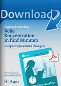 Konzentrationstraining: Energizer