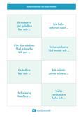Reflexionskarten mit Satzanfängen