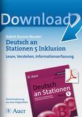 Deutsch_neu, Sekundarstufe I, Lesen, Erschließung von Texten, Grundlagen, Leseoperationen, Textverstehen, Leseverstehen