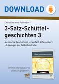 Deutsch_neu, Primarstufe, Sprache und Sprachgebrauch untersuchen, Sprachliche Strukturen und Begriffe auf der Satzebene, Der einfache Satz, Satzbau, Satzbautraining, Schüttelsätze