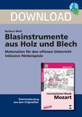 Musik_neu, Primarstufe, Musiktheorie und -geschichte, Instrumentenkunde, Holzblasinstrumente, Blechblasinstrumente, Materialien für offenen Unterricht, Suchworträtsel