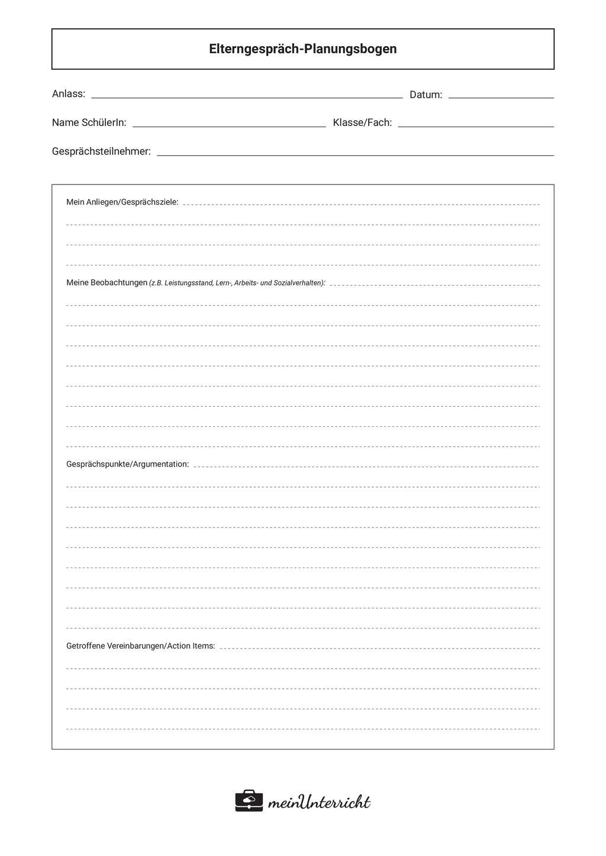 Elterngespräch-Planungsbogen Preview 2