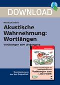 Deutsch_neu, Primarstufe, Sprache und Sprachgebrauch untersuchen, Lesen, Sprachliche Strukturen und Begriffe auf der Wortebene, Grundlagen, Laut und Lautstruktur des Wortes, Leseentwicklung, Wortlängen, kurz und lang