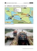 Erdkunde_neu, Sekundarstufe I, Amerika, Orientieren, Gewässer, Verkehr, Containerschiffe, Wirtschaft, Panamakanal, Suezkanal, Hafen, Schleuse