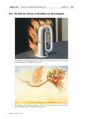 Kunst_neu, Sekundarstufe I, Flächiges Gestalten, Kunstbegegnung und -betrachtung, Collagieren, Zeichnen, Bildanalyse und -interpretation, Grafische Elemente, Analyse gestalterischer Mittel, Surrrealismus, Traum, Traumwelt, René Magritte